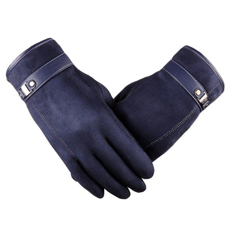 Affordable Autumn and Winter Touch Screen Glove Male Cashmere with Velvet and Warm Car Ride Without Down Suede