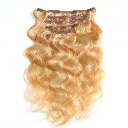 Body Wave Chinese Remy Hair Piano Color Full Head Natural 7 штук Клип в человеческих наращиваниях волос RC957 -