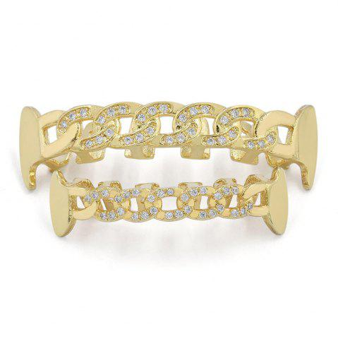 Buy Hip Hop 18K Gold Plated Hollow Chain Teeth Grillz