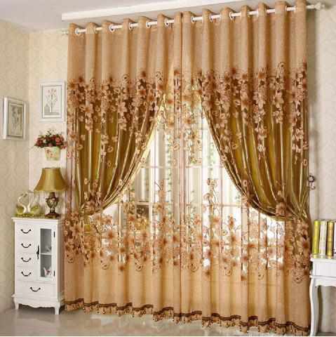 Latest Rotten Flower Jacquard Morning Glory Curtain