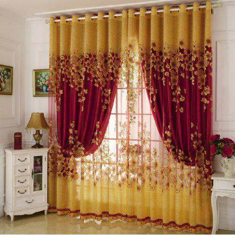 Sale Rotten Flower Jacquard Morning Glory Curtain