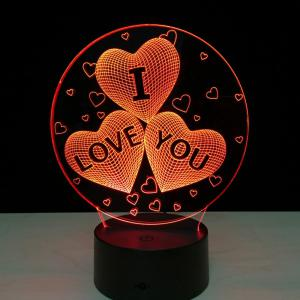 3D Led Night Light 7 Colors Changing touch Lamp Creative Gift -