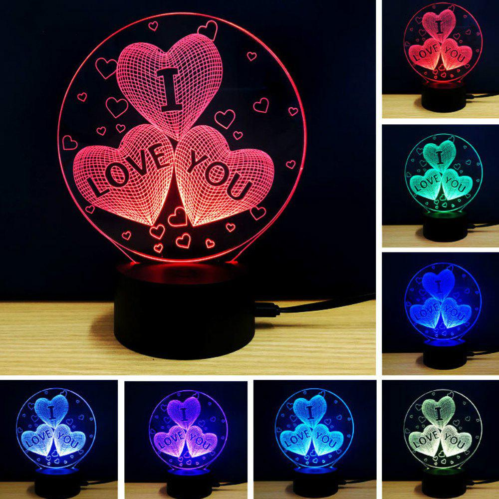 Online 3D Led Night Light 7 Colors Changing touch Lamp Creative Gift