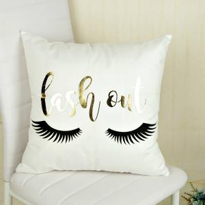 Bling Sequin Art Stripe Eyelash pillowcase Bedroom Home Decorative -
