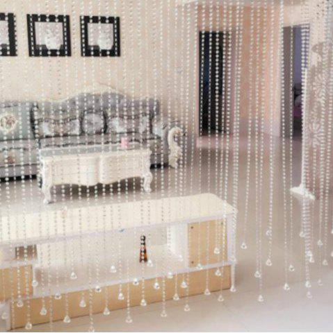 Cheap 1M Home Decorative Beaded Delicate Artificial Crystal Windows Porch Partition Transparent Curtaindoor