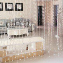 1M Home Decorative Beaded Delicate Artificial Crystal Windows Porch Partition Transparent Curtaindoor -