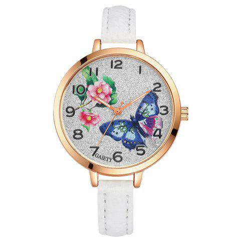 Hot GAIETY G352 Women Flowers Face Leather Band Quartz Watches