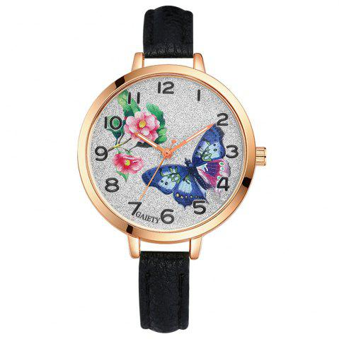 Cheap GAIETY G352 Women Flowers Face Leather Band Quartz Watches