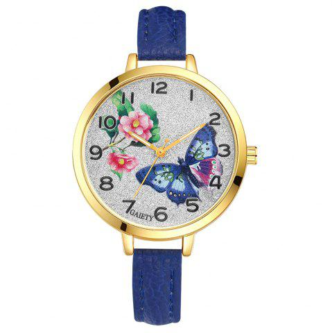 Fancy GAIETY G351 Women Flowers Dial Leather Band Quartz Watches