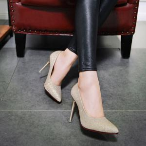 Fluorescence Face Simple Shallow High Heeled Shoes -