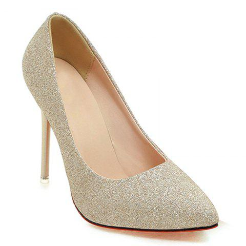 Online Fluorescence Face Simple Shallow High Heeled Shoes