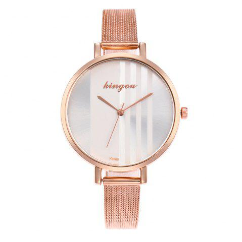 Shops New Trend of Fashion Rose Gold Small Dial Steel Quartz Watch