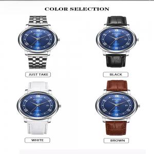 New Fashion Trends Luxury Calendar Blu - Ray Quartz Watch -