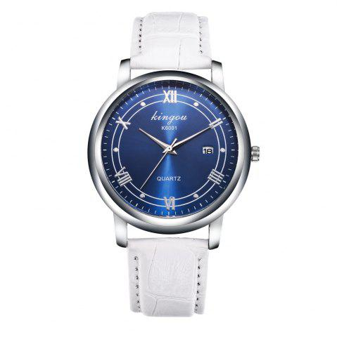 Shop New Fashion Trends Luxury Calendar Blu - Ray Quartz Watch