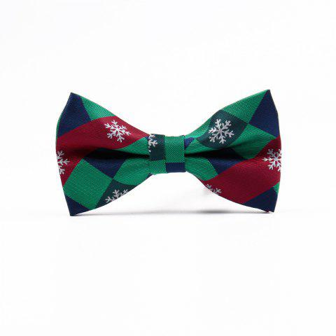 Fancy Christmas Man Polyester Jacquard Bow