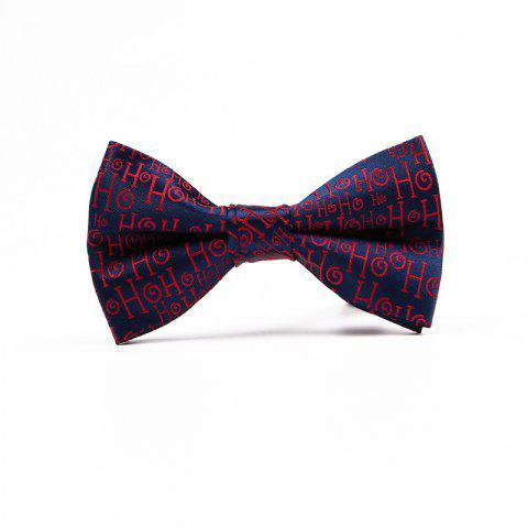Chic Christmas Man Polyester Jacquard Bow
