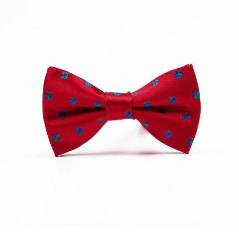 New Christmas Man Polyester Jacquard Bow