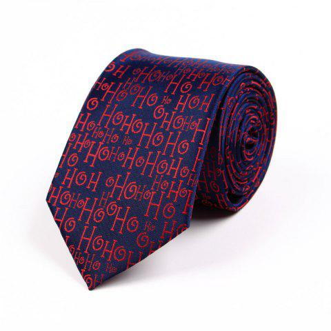 Unique 75CM Christmas Theme Polyester Jacquard Tie