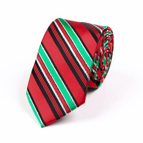 Shops 75CM Christmas Theme Polyester Jacquard Tie