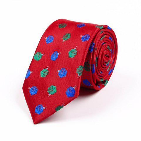 Latest 75CM Christmas Theme Polyester Jacquard Tie