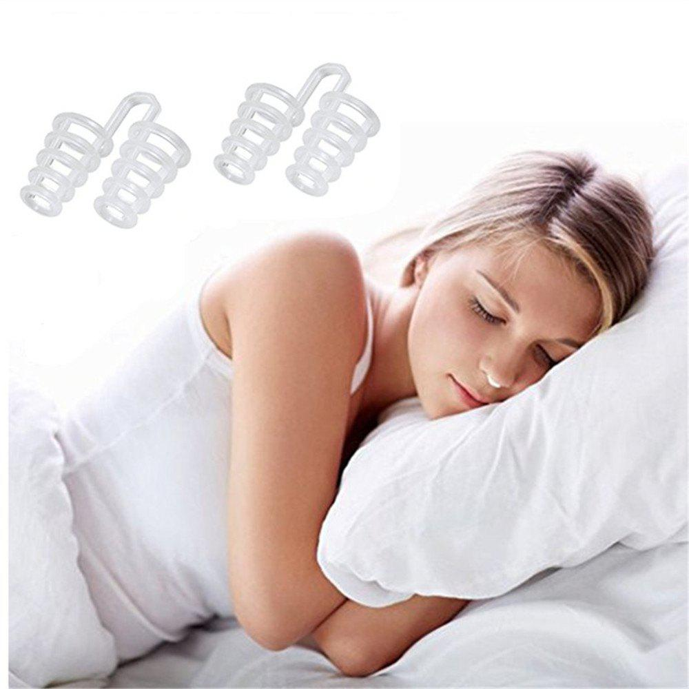 New Set of 2 Premium Anti-Snoring Nose Vents Soft Silicon Stop Snoring Device Night