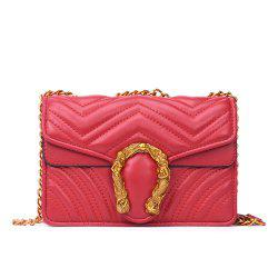 Female Messenger Chain Retro Wild Shoulder Small Square Package -