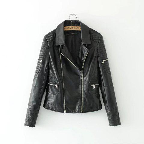 Sale New Fashion Street Short Washed PU Leather Jacket Women Zipper Ladies Basic Jackets