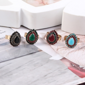 European and American jewelry quick sale of hot style alloy jewelry drop of the gem on the ring -