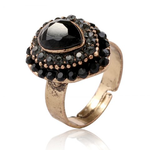 Online European and American jewelry quick sale of hot style alloy jewelry drop of the gem on the ring