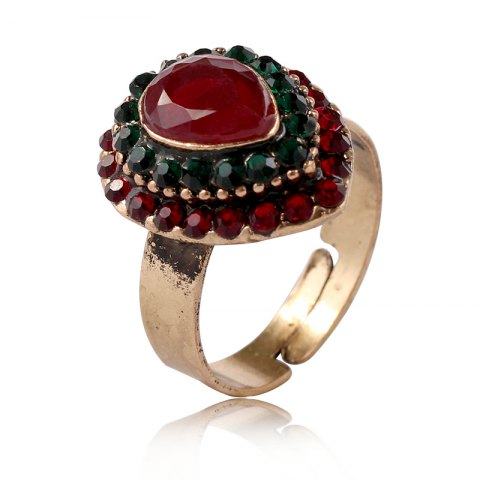 Trendy European and American jewelry quick sale of hot style alloy jewelry drop of the gem on the ring