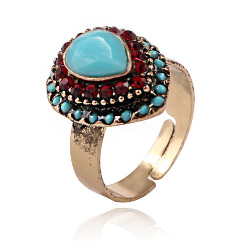 Latest European and American jewelry quick sale of hot style alloy jewelry drop of the gem on the ring