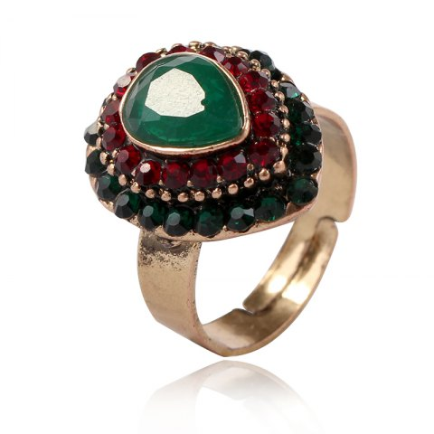 New European and American jewelry quick sale of hot style alloy jewelry drop of the gem on the ring