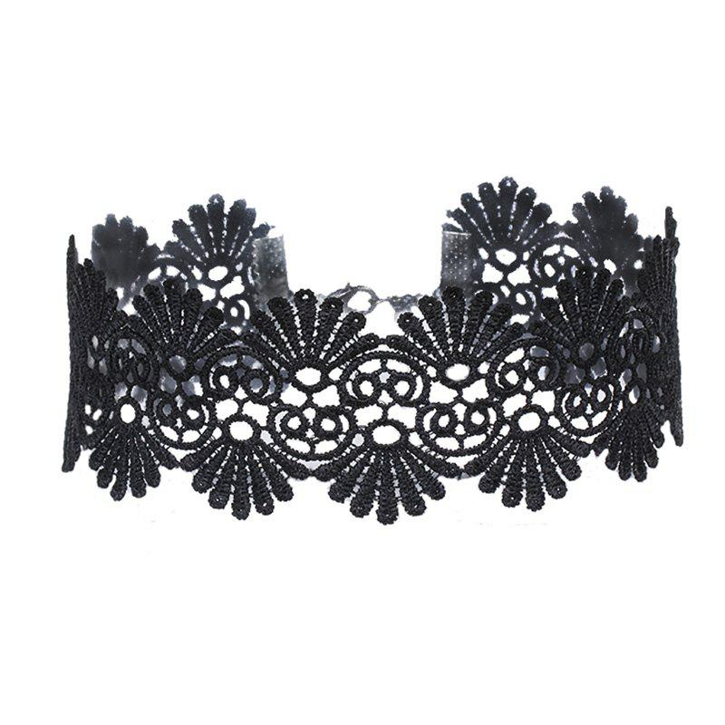 Image of Black New Collar Trend New Listing Lace Choker Tattoo Choker Necklaces for Women