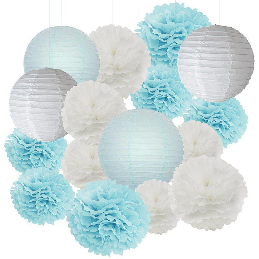 Shops EASTERN HOPE 16 Pcs Tissue Pom Flower And Paper Lantern Party Favors Wedding Birthday