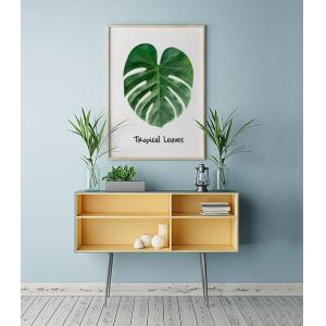 6Pcs/Pack Artificial Tropical Leaf Plant Leaves Palm Fronds for Hawaiian Party Beach Theme,Home Decorations (Size:13.8 Inch) -