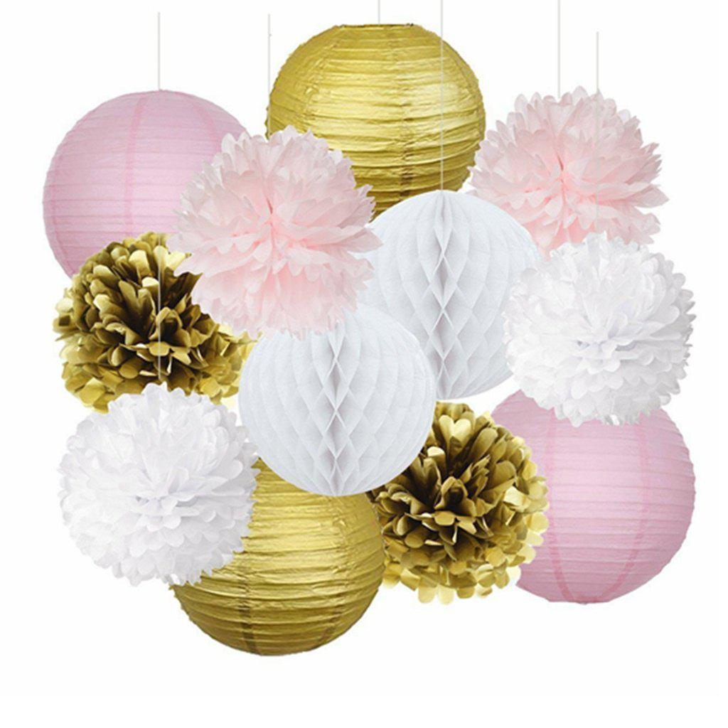 Multicolor Eastern Hope 12pcs Pink Gold Party Decorations Tissue ...