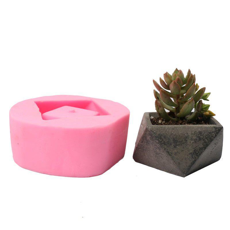 Affordable 3D Flowerpot Silicone Mold Handmade Concrete Mould for Succulent Plants Cement Plate Home Decoration