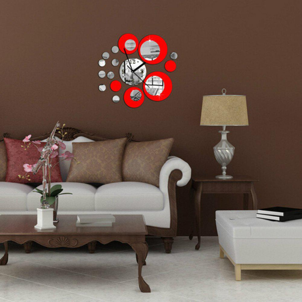 New Acrylic Wall Clock with Diy Circles Mirror Wall Stickers for Home Decoration