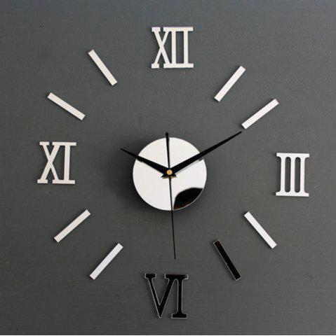 Outfit 3D DIY Roman Numbers Mirror Wall Clock Home Decoration