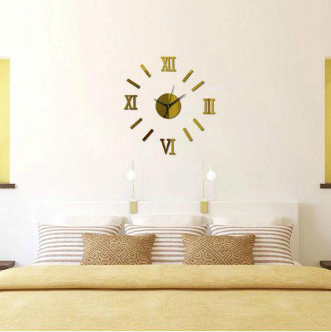 Store 3D DIY Roman Numbers Mirror Wall Clock Home Decoration
