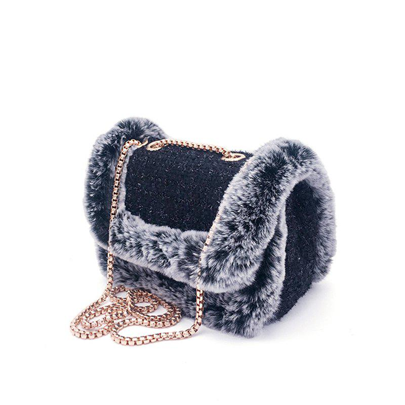 Discount Winter Women Fashion Small Party Bag Fur One-shoulder Bag