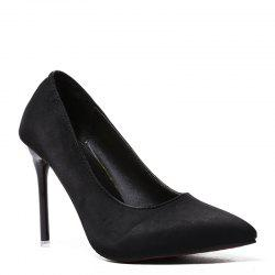 Stylish Women's Shoes with New High-heeled Professional Suede -