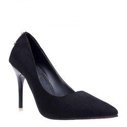 Nouvelle chaussure simple Sexy Thin Heel Sexy Suede femmes - Noir 34