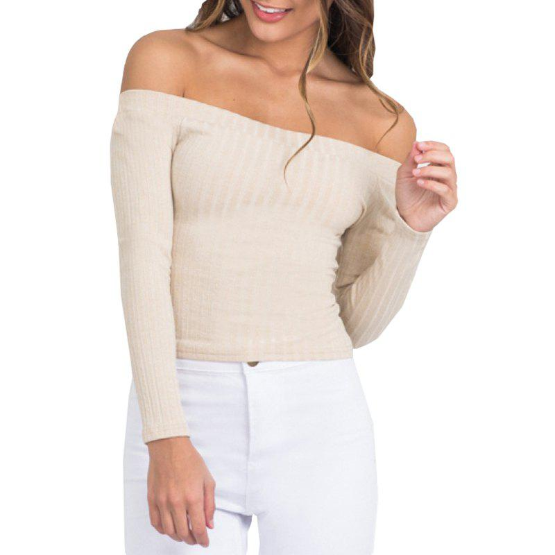 Outfits Off The Shoulder Knit Crop Top