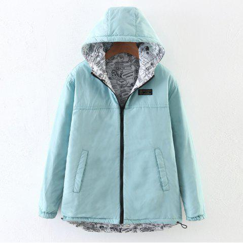 Discount Women's Quilted Coat Hooded Zipper All Match Comfy Hooded Outerwear