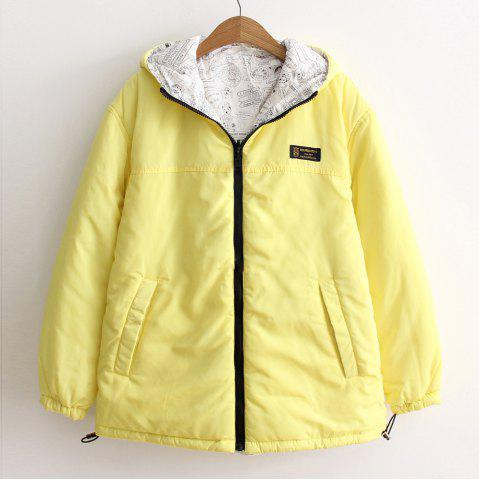 Latest Women's Quilted Coat Hooded Zipper All Match Comfy Hooded Outerwear
