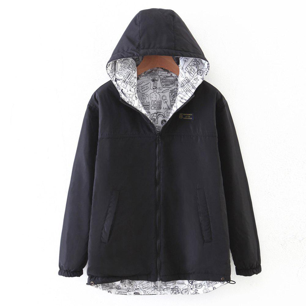 Outfits Women's Quilted Coat Hooded Zipper All Match Comfy Hooded Outerwear