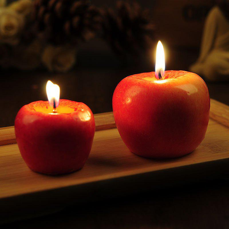 Trendy Red apple candles Birthday wedding christmas eve  An apple candle in a gift box
