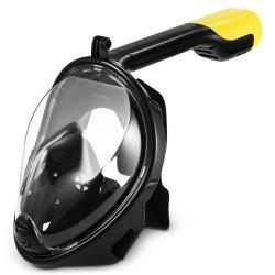 M2068G+180 Degree Panoramic View+Snorkel Mask+Black,L/XL -