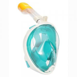 M2068G+180 Degree Panoramic View+Snorkel Mask+Green,L/XL -
